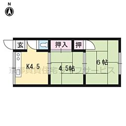 井上アパート[2号室号室]の間取り