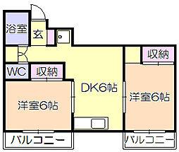 第3平田ビル[302号室]の間取り