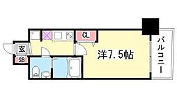 兵庫県神戸市中央区御幸通4丁目の賃貸マンションの間取り