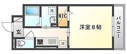 JR吉備線 備前三門駅 徒歩15分の賃貸アパート 3階1Kの間取り