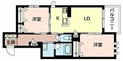 住道矢田1丁目計画 1階2LDKの間取り