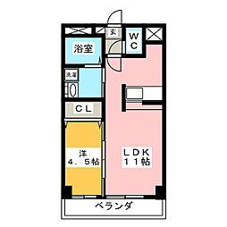 シャルルMARUWA[2階]の間取り
