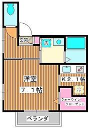 (仮称) 板橋区栄町メゾン 2階1Kの間取り