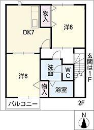 ニュークレストールTDII[2階]の間取り