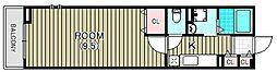 ヴィラ キックス フロントII[2階]の間取り
