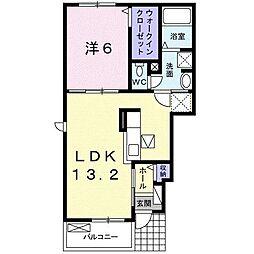 香川県高松市屋島西町(アパート) 1階1LDKの間取り