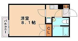 プラティーク南片江[1階]の間取り