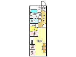 JR鹿児島本線 水巻駅 徒歩18分の賃貸アパート 2階1Kの間取り