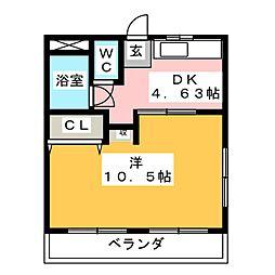 阿部マンション[3階]の間取り