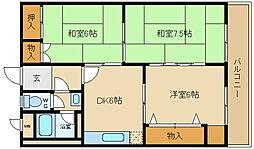 大真マンション[4階]の間取り