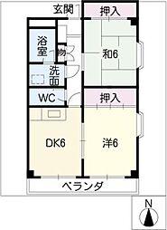 エムズハウス八社[3階]の間取り