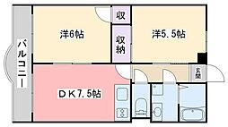 福岡県福岡市早良区室見4丁目の賃貸マンションの間取り