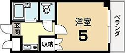 プレアール富野荘[2階]の間取り
