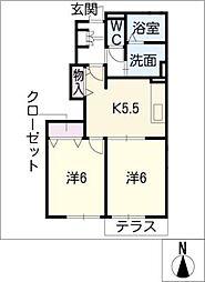 ラフォーレ[1階]の間取り