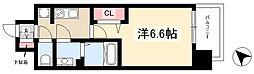 アステリ鶴舞トゥリア 3階1Kの間取り
