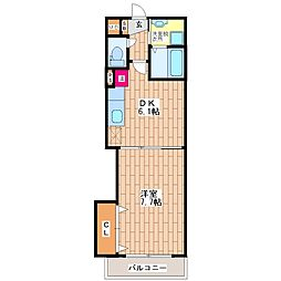 ベルチューム[4階]の間取り