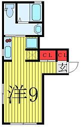 FARE駒込II 1階ワンルームの間取り