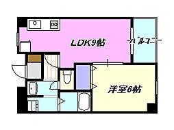 メゾンドコア303[3階]の間取り