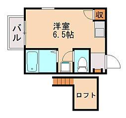 ベルトピア七隈[2階]の間取り
