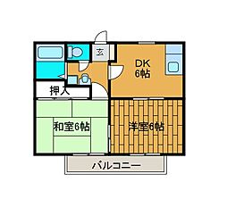ファミール村田[2階]の間取り