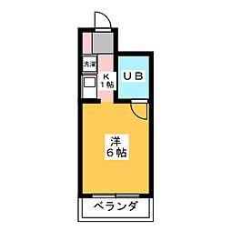 三輝ビル[4階]の間取り