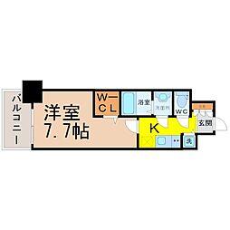プレサンスジェネ葵[3階]の間取り