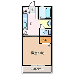 エルレスメール[2階]の間取り
