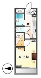 レオパレスメゾン長戸井[2階]の間取り