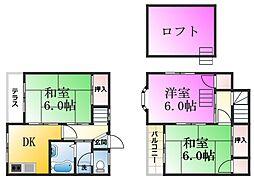 [テラスハウス] 東京都江戸川区江戸川1丁目 の賃貸【/】の間取り
