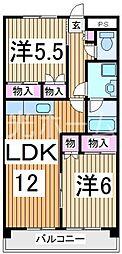 ソレーユ東所沢[5階]の間取り