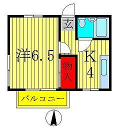 メゾンサカイC[2階]の間取り