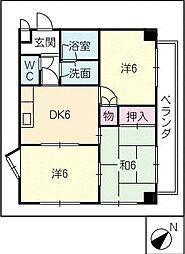 サン・ピボット上小田井[2階]の間取り