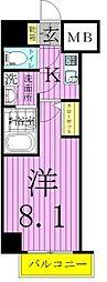 ベルグレードSK DUE[1204号室]の間取り