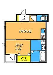 目黒本町5丁目新築 1階1DKの間取り