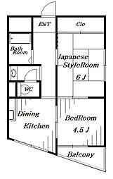 ハイツ本郷[2階]の間取り