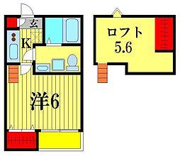 スリジエ松戸[1階]の間取り