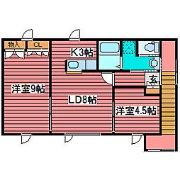 [タウンハウス] 北海道札幌市豊平区月寒西一条9丁目 の賃貸【/】の間取り