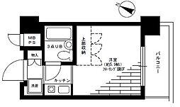 パークノヴァ横浜阪東橋[4階]の間取り