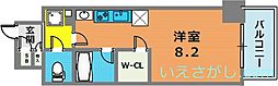 アスヴェル神戸元町海岸通[8階]の間取り