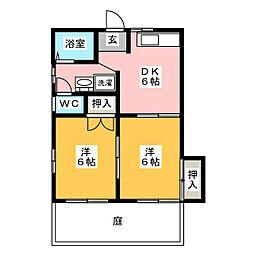 スプリングタウンKOBA B[1階]の間取り