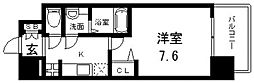 Osaka Metro中央線 緑橋駅 徒歩6分の賃貸マンション 5階1Kの間取り