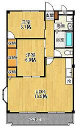 マノワール2[3階]の間取り