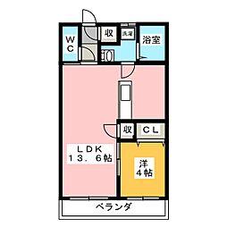 ポルト・ボヌール[1階]の間取り