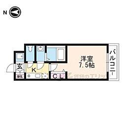 京阪本線 伏見稲荷駅 徒歩3分の賃貸マンション 1階1Kの間取り