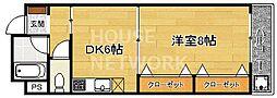 第1正美堂ビル[613号室号室]の間取り