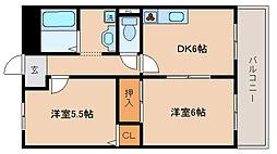 兵庫県神戸市長田区東尻池町6丁目の賃貸マンションの間取り