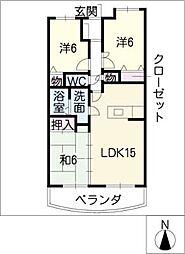 ラルゴ白壁[2階]の間取り