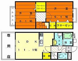[テラスハウス] 福岡県福岡市東区多の津5丁目 の賃貸【/】の間取り
