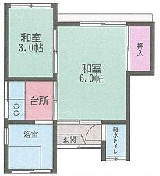 [一戸建] 神奈川県横須賀市根岸町4丁目 の賃貸【/】の間取り
