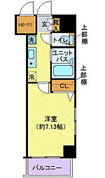 ヴェルト日本橋III(ヴェルトニホンバシサン)[3階]の間取り